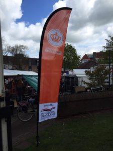 Beachflag Oranje vereniging Baarn