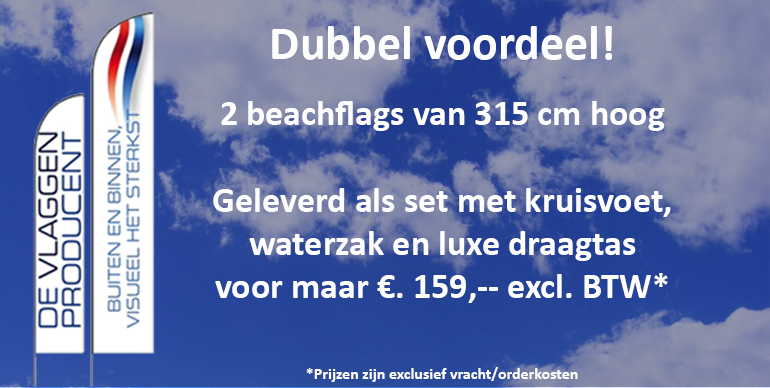 2 beachflags voor €159